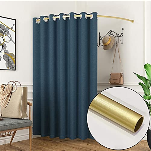MAHFEI Fitting Room Clothing Store, Portable Dressing Room Nano Metal Tube Easy To Disassemble Locker Room Cotton And Linen Blackout Curtains Kit Privacy Protection For Office