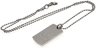 Chelsea F.C. Engraved Crest Dog Tag & Chain