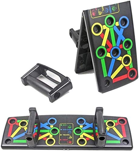 LNLJ - Tabla de flexiones 12 en 1 para entrenamiento corporal, fitness, tabla de entrenamiento integral, con código de color para entrenamiento en casa