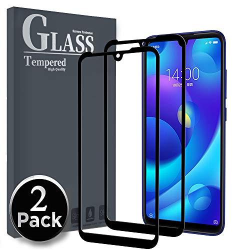 Gehärtetes Ferilinso-Glas für Xiaomi Mi Play, [2 Pack] [Gesamtabdeckung] [Vollklebstoff] [Selbstabsorption] [Richtig] Schutzfilm für gehärtetes Glas Xiaomi Mi Play (Schwarz)