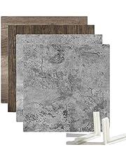 Selens Juego de 2 tablas de fondo, 55 x 55 cm, cemento, textura de vetas de madera de doble cara, fondo plano vertical, para joyas, cosméticos, pequeños accesorios, fotografía de estudio