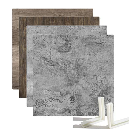 Selens 2X Fondo de Tableros 55x55cm Kit Fotografía Doble Lado Cementode Madera Textura, Vertical de Mesa Plana para Estudio Fotográfico Flat Lay Producto Pequeño Alimentos Joyería Cosméticos