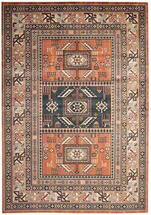 Sam's International Traditional Boho Ranking TOP3 Viscose Limited price sale Area Cop in Rug 5x8