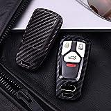 ZGYQGOO Autoschlüssel Abdeckung für Auto Styling kohlefaser Korn Abdeckung case für Audi a4 Neue a4l a5 a6l qt s5 s7 q7 tts Schutz fob Key Shell Auto zubehör, schwarz Single Shell