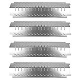 GFTIME 38CM Heizplatte für Charbroil, Costco, Centro 463230703, Thermos Gasgrill, Edelstahl Brennerabdeckung, BBQ Hitzeschild Ersatzteile, 4 Pack