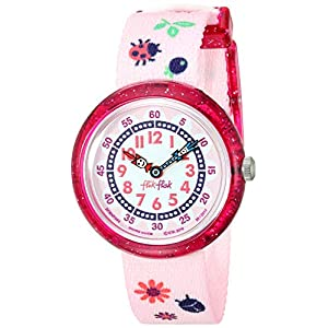 Flik Flak Kids' Camping Quartz Polyester Strap, Pink, 14 Casual Watch (Model: ZFBNP093)