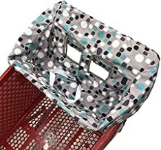 Portable Shopping Cart Cover   High Chair and Grocery Cart Covers for Babies, Kids, Infants & Toddlers ✮ Includes Free Carry Bag ✮ (Simple Blue Dot)
