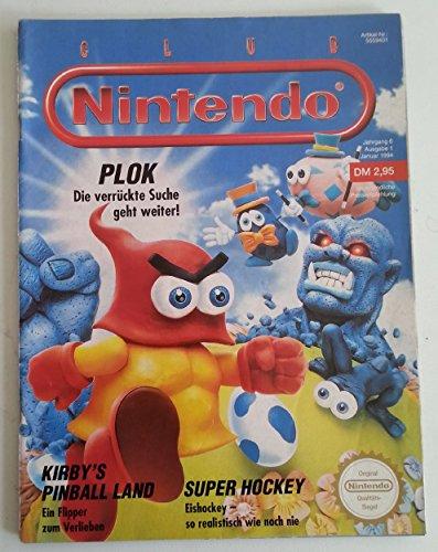 Club Nintendo Magazin SNES Super Nintendo NES GB (u.a. über Plok Kirby Aladdin Jurassic Park Battletoads) Spieleberater Zeitschrift Ausgabe 1 Jan 1994