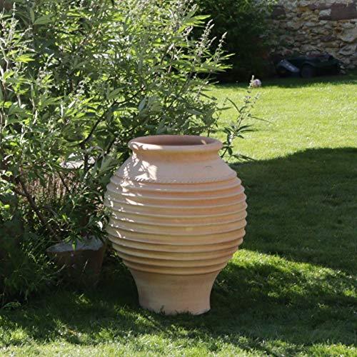 Céramique crète | grande amphore végétale en terre cuite véritable | fait main | 70 cm | Amphores pour terrasse extérieure de jardin, agave