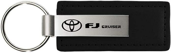 Au-Tomotive Gold, INC. Toyota FJ Cruiser Black Leather Key Chain