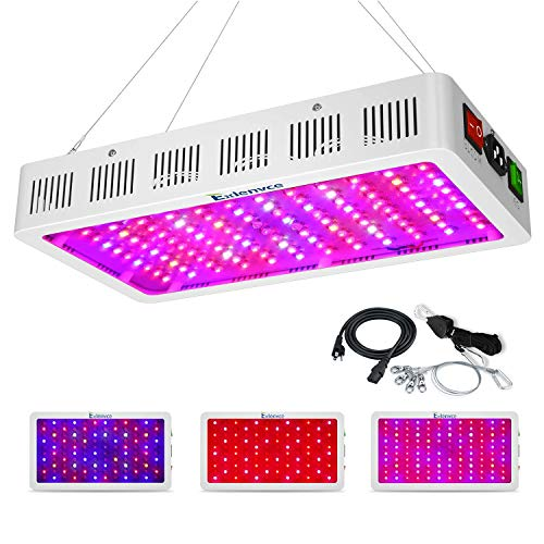 Exlenvce 1500W 1200W LED Grow Light Full Spectrum for Indoor Plants Veg and Flower,led Plant Growing...