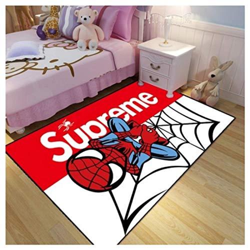 WallDiy Tapis de Jeu de Bande dessinée Spiderman Tapis de Sol de Luxe Tapis de Sol 3D Tapis de Sol géométrique pour Salon Chambre Tapis énorme