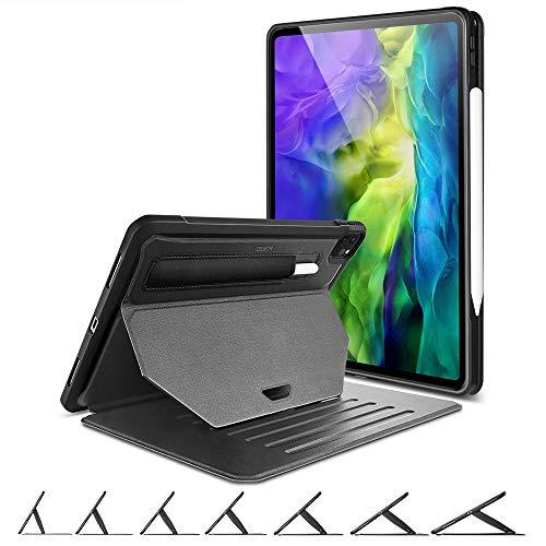 """ESR Funda con Soporte Serie Sentry para iPad Pro 11"""" 2020 (2da generación)[7 Ángulos de Soporte][Potente imán para Colgar][Cubierta Resistente][Portalápices][Modo Automático Reposo/Actividad],Negro"""