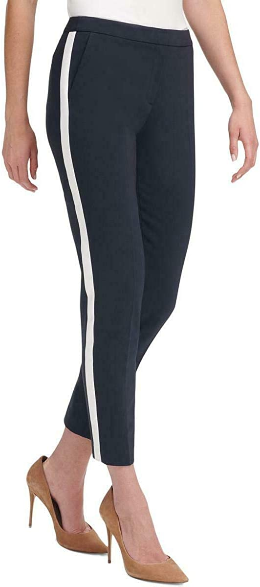 Tommy Hilfiger Women's Ankle Varsity Stripe Skinny Pants