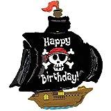 Betallic Pirate Ship Shaped Jumbo Foil Balloon
