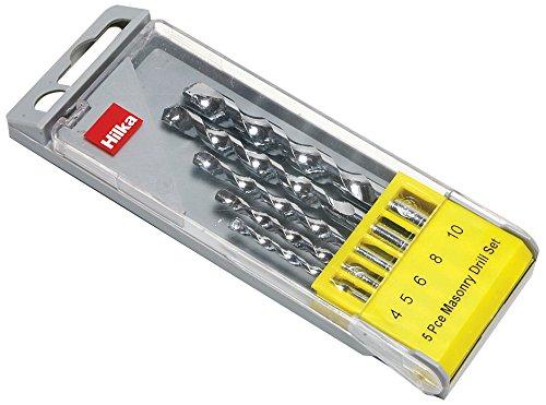 Hilka 49805005 Masonry Drill Bit Set, Set of 5 Pieces
