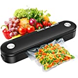 Food Vacuum Sealer Machine for Wet and Dry Food, DEWTTE Automatic vacuum sealer for Food...