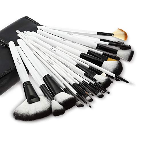 Set de brochas de maquillaje profesional Abody, pinceles de madera (36 piezas)...