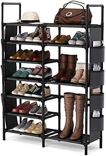 7 Tiers Shoe Rack Shelf Max 50% OFF Free Closet Standing for Entryway Max 44% OFF