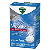 Vicks VapoShower, Shower Tablet, Shower Bomb, Aromatherapy Vapors, Eucaplytus & Menthol, Soothing Vicks Vapor Steam, 3ct