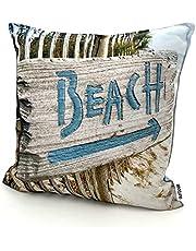 heimtexland ® Outdoor kussen bedrukt 45x45 tuin lounge decokussen outdoor lotus-effect type 742 Beach schild