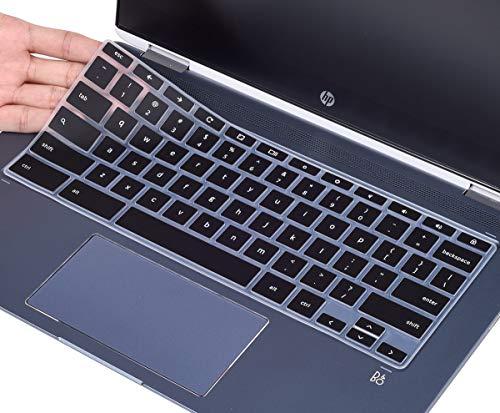 Keyboard Cover for HP 2-in-1 14 Chromebook, Chromebook X360 14a, HP Chromebook 14-DA 14B-CA 14a-na 14-db 14-ca 14-ak and HP Chromebook 14 G2 G3 G4 G5, Chromebook 14 Keyboard Skin,Black