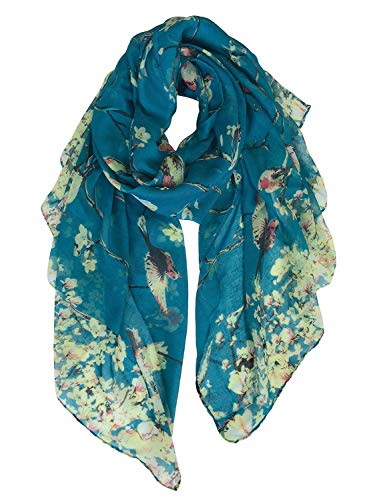 GERINLY Summer Scarfs for Women Lightweight Long Headwrap Fashion Bandana Scarves (Teal)