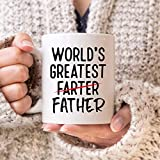N\A Worlds Greatest Farter Mug Dad Mug Funny Dad Coffee Mug Miglior Father Mug Worlds Greatest Father Mug Regalo Divertente per papà