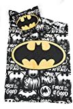 DC COMICS BATMAN Juego de ropa de cama–funda de edredón Reversible 140x...