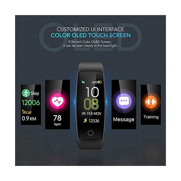 AGPTEK Pulsera de Actividad Inteligente, Reloj Deportivo Pantalla a Color IP67 Soporta GPS, Temporizador, Monitor de… 3