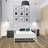 Bonnlo Twin Metal Bed Frame with Headboard & Footboard for Kids/Girls, White