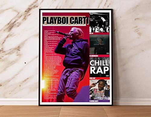 Rapper Car.ti Album Cover Poster, Car.ti Lyrics Poster - Wall Art for Fan, Music Lovers - 11x17 16x24 24x36 Inch (No Frame)
