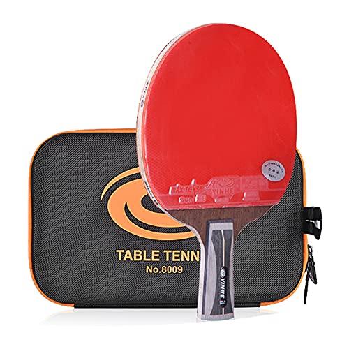 LINGOSHUN Raquetas de Ping Pong,CombinacióN Perfecta de Ping Pong de Potencia Y Finura,Mango CóModo,Raquetas de Tenis de Mesa Profesional de 14 Estrellas/Single/Short handle