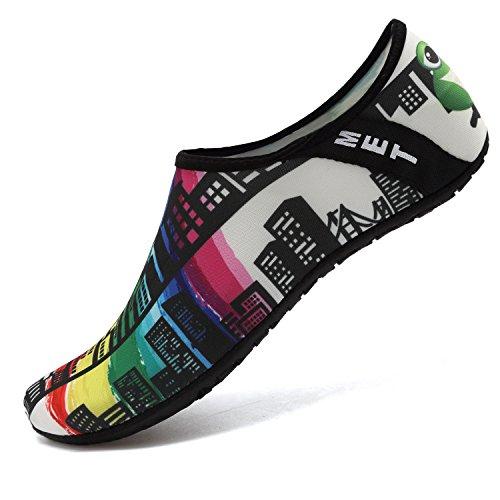 VIFUUR Water Sports Unisex Shoes Black/White/Multi - 11-12 W US / 9.5-10.5 M US (42-43)