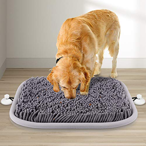 RUNDA Snuffle Mat for Dogs, 17'' x 21'' Dog Snuffle Mat Interactive Feed Game for Boredom,...