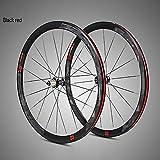 QXFJ Ruote Bici Set Ruote Bici Set di Ruote per Bici da Strada 700C A Quattro Raggi Piatti in Alluminio Ultraleggero con Cerchio da 40 Coltelli da Corsa con Anti-Cursore