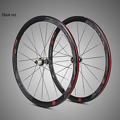 QXFJ Fahrradfelge Fahrrad-Rad Fahrrad Laufradsatz 700C Rennrad Laufradsatz Aus Ultraleichtem Aluminium Mit Vier Palin Flachspeichen Und 40 MesserräNdern Mit Anti-Cursor