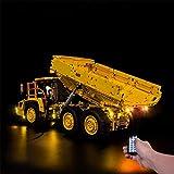 JY&WIN Kit de iluminación LED para Lego 42114 Technic 6x6 Volvo Articulated Hauler Truck Toy RC Car Vehículo de construcción (Modelo Lego no Incluido)