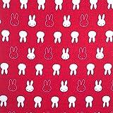 Miffy Stoff Baumwolle Bastelstoff Rosa Rot Kinderstoff