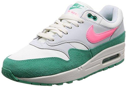 Nike Air Max 1, Scarpe da Ginnastica Uomo, Bianco (Summit White/Sunset Pulse/Kinetic Green 106), 49.5 EU
