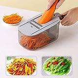 rallador cocina Cortadora de vegetales de patata Comida Fruta Ajustable...