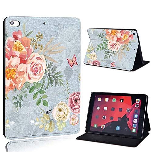 Nueva Cubierta Smart Funda de Cuero Smart Funda para Ap iPad 2 3 4 / Mini 1 2 3 4 5 / iPad 2017 2018 2019 / Air 3 / Pro 11 Tablet Case (Color : Vintage Floral, Size : iPad Mini 4 5)