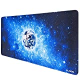 Anpollo Alfombrilla Raton Ordenador XXL Gaming Grande 900x400mm, Lavable, Base de Caucho para Gamers, PC y Portátil (Star Planet Earth)