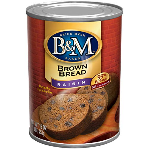 B&M Brown Bread, Raisin Bread, 16 Ounce (Pack of 12)