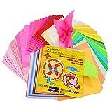 Onepine Origami Papier 15 x 15 cm 400 feuilles 50 couleurs vives 80% double face et...