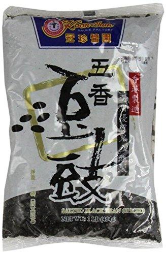 Koon chun Party Time -- Chinese Douchi - Fermented Black Beans - 16 Oz Bag Each