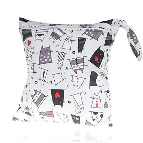 Nicedier Impermeable de una Sola Capa Bolsa de pañales de la Bolsa de pañales de Almacenamiento para el Cochecito de bebé (Cat) 1pcs Esencial del bebé