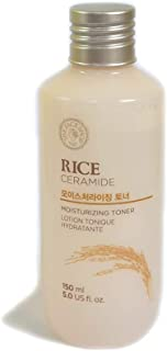 [THEFACESHOP] Rice & Ceramide Moisturizing Facial Toner, Provides Deep Hydration with Ceramide and Rice Extract - 150 ml