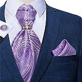 zying set di cravatta da uomo in seta da uomo set da uomo viola uomo cravatta cravatta con gemelli 4pc set (color : purple, size : one size)