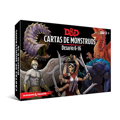 Dungeons & Dragons Cartas de Monstruos. Desafío 6-16, Color (EEWCDD91)